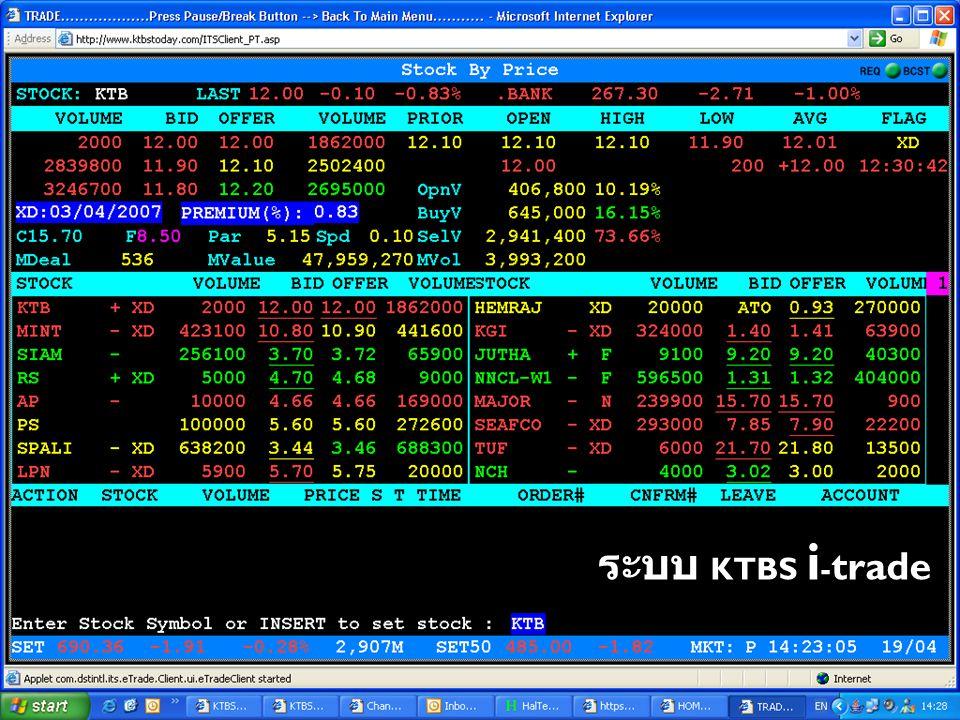 ระบบ KTBS i - trade