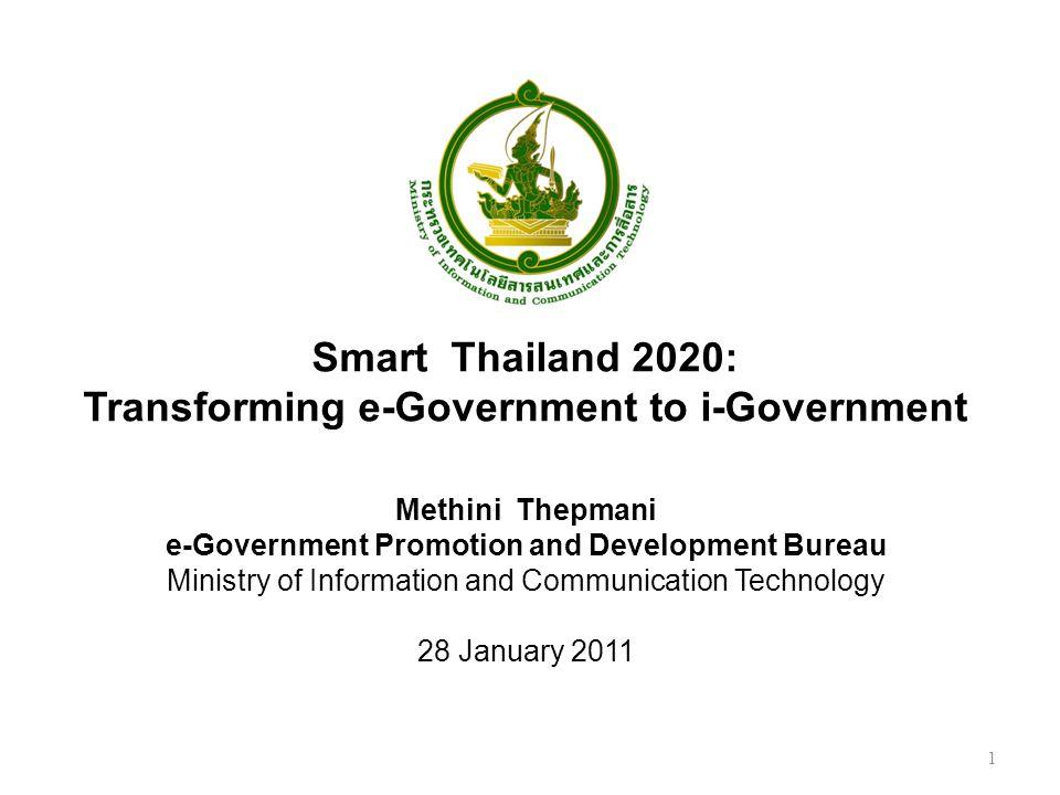 12 MICT ตรงกับยุทธศาสตร์ที่ 6 : การใช้ ICT เพื่อสนับสนุน การเพิ่มขีดความสามารถใน การแข่งขันอย่างยั่งยืน มาตรการที่ 6.4 ส่งเสริม การนำ ICT มาใช้ในภาคการ ผลิตและบริการที่เป็น ยุทธศาสตร์ของประเทศ และไทยมีความได้เปรียบ โดยเฉพาะการเกษตร การ บริการด้านสุขภาพ และการ ท่องเที่ยว