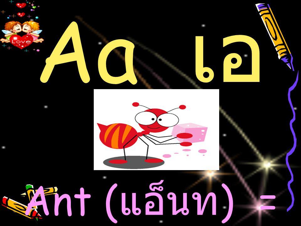 Ant ( แอ็นท ) = มด Aa เ อ