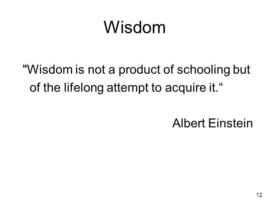 12 Wisdom