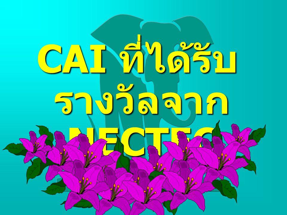 CAI ที่ได้รับ รางวัลจาก NECTEC
