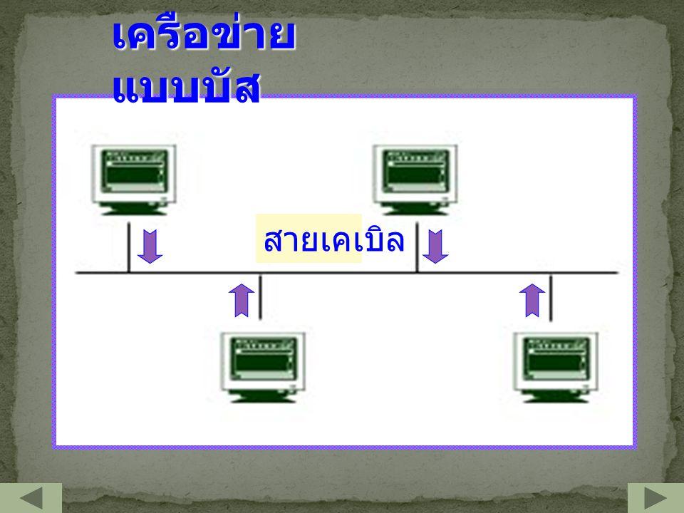 เครือข่าย แบบบัส สายเคเบิล