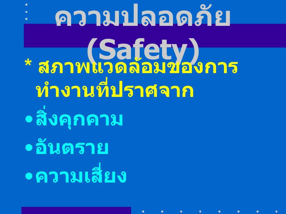 ลักษณะงานอาชีวอ นามัย 1.ส่งเสริมสุขภาพ (Promotion) 2.