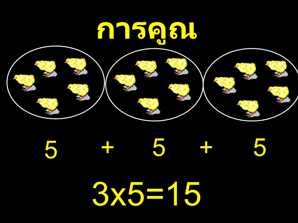 การคูณ 5 ++5 5 3 ⅹ 5=15