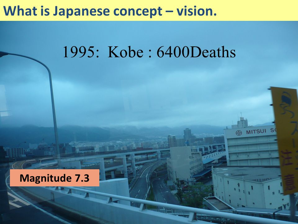 Niigata Magnitude 6.8 What is Japanese concept – vision.