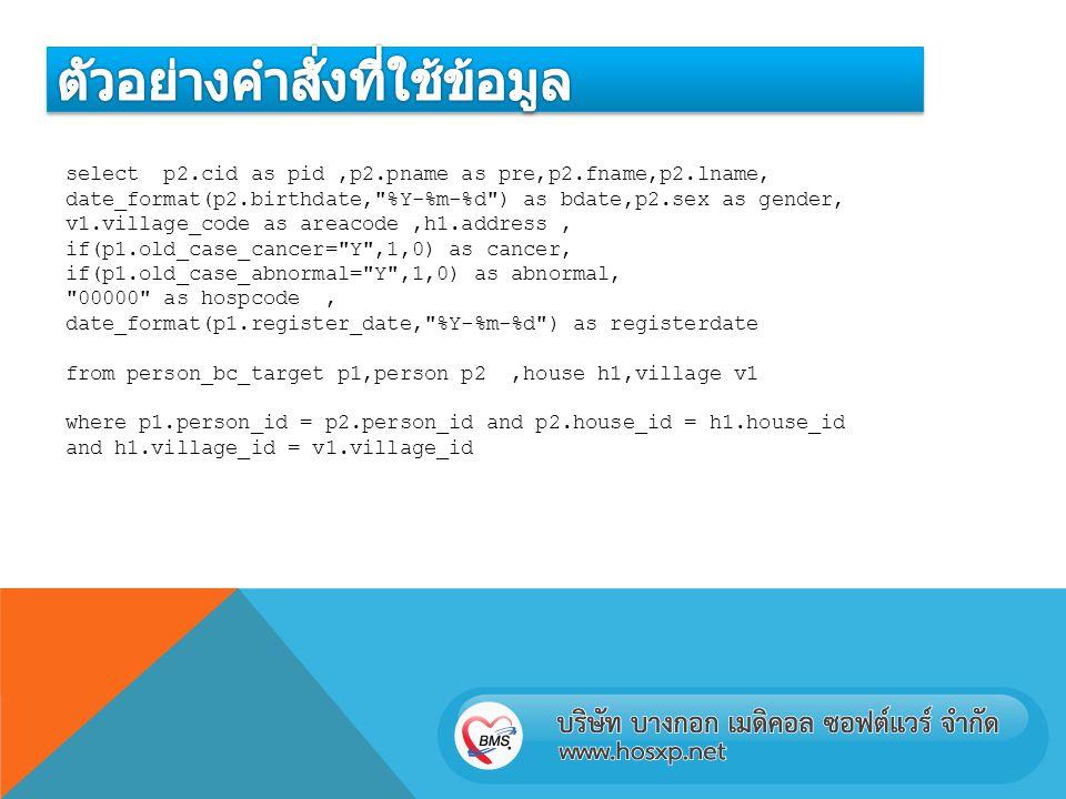 select p2.cid as pid,p2.pname as pre,p2.fname,p2.lname, date_format(p2.birthdate,