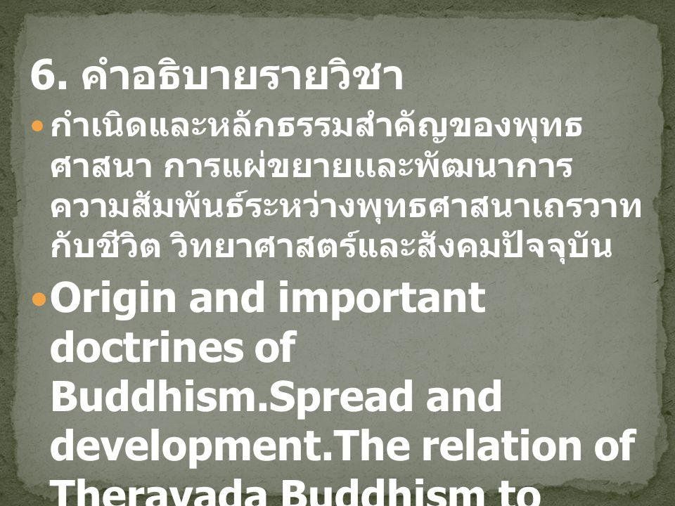 5 ลักษณะสำคัญ ของ พระพุทธศาสนา เถรวาท ฟังบรรยาย, ซักถามและ การอภิปราย อ.