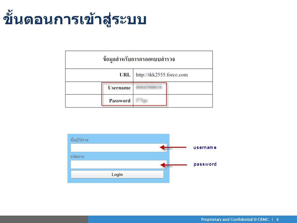 Proprietary and Confidential © CRMC. | 4 ขั้นตอนการเข้าสู่ระบบ