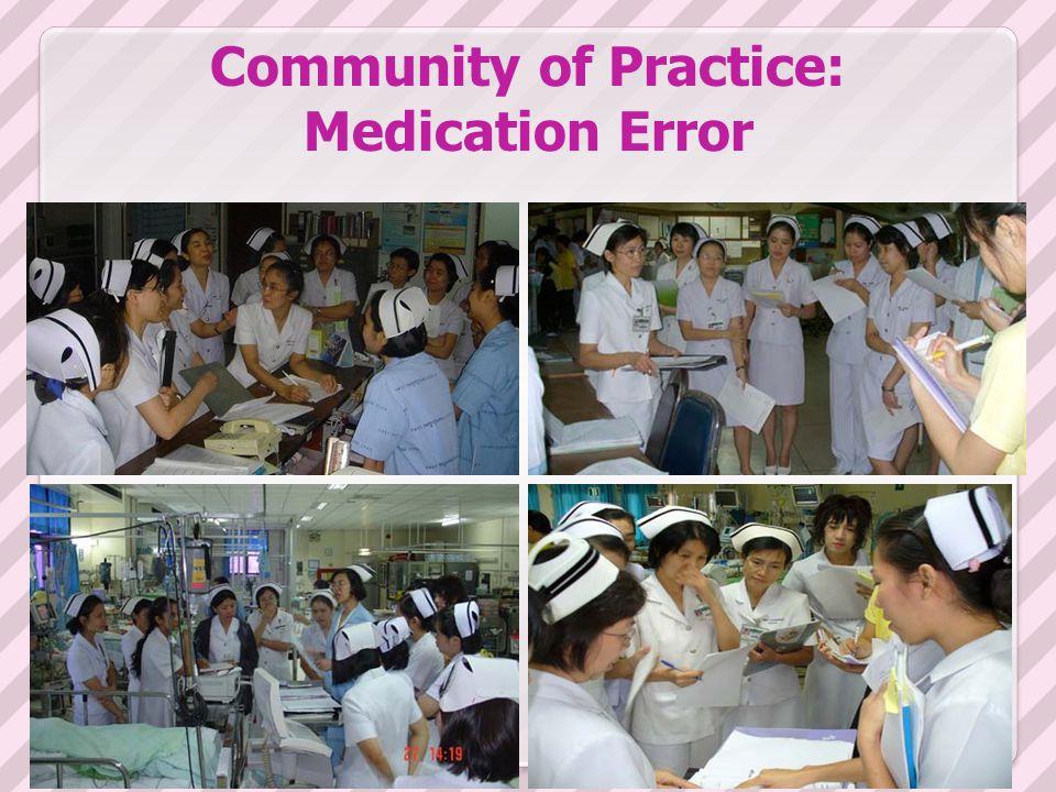 Community of practice of medication error (CoP med.