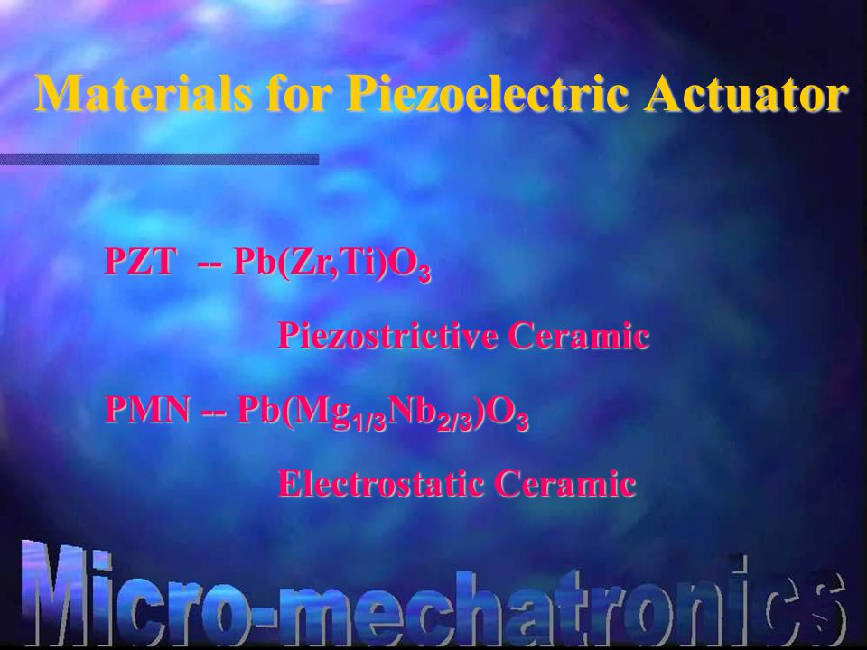 Structure of Piezoelectric Actuator Structure of Piezoelectric Actuator