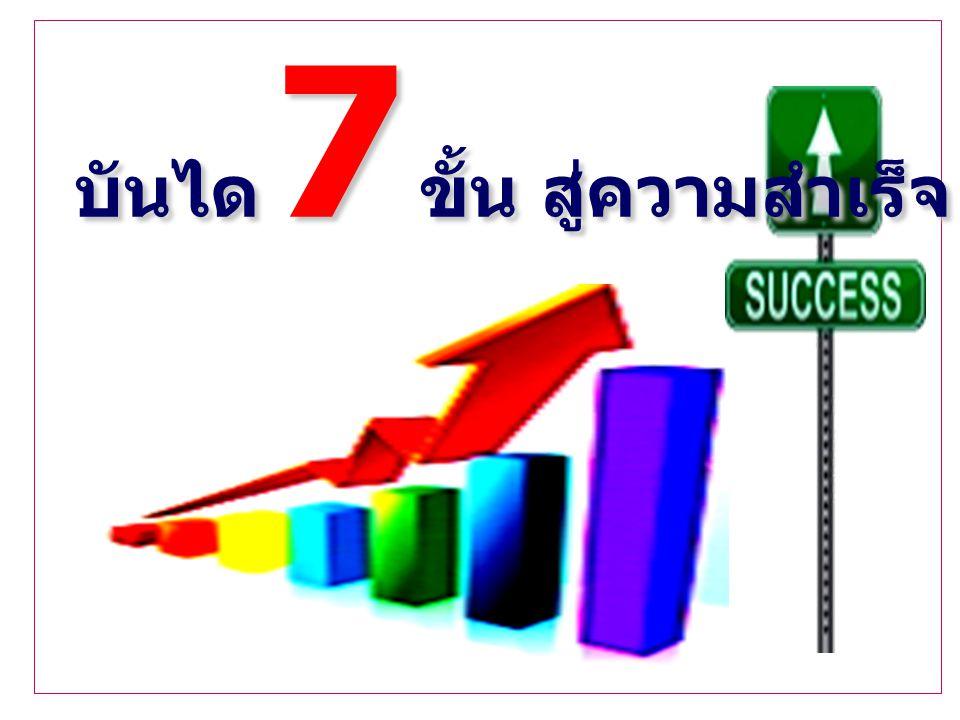 บันได 7 ขั้น สู่ความสำเร็จ