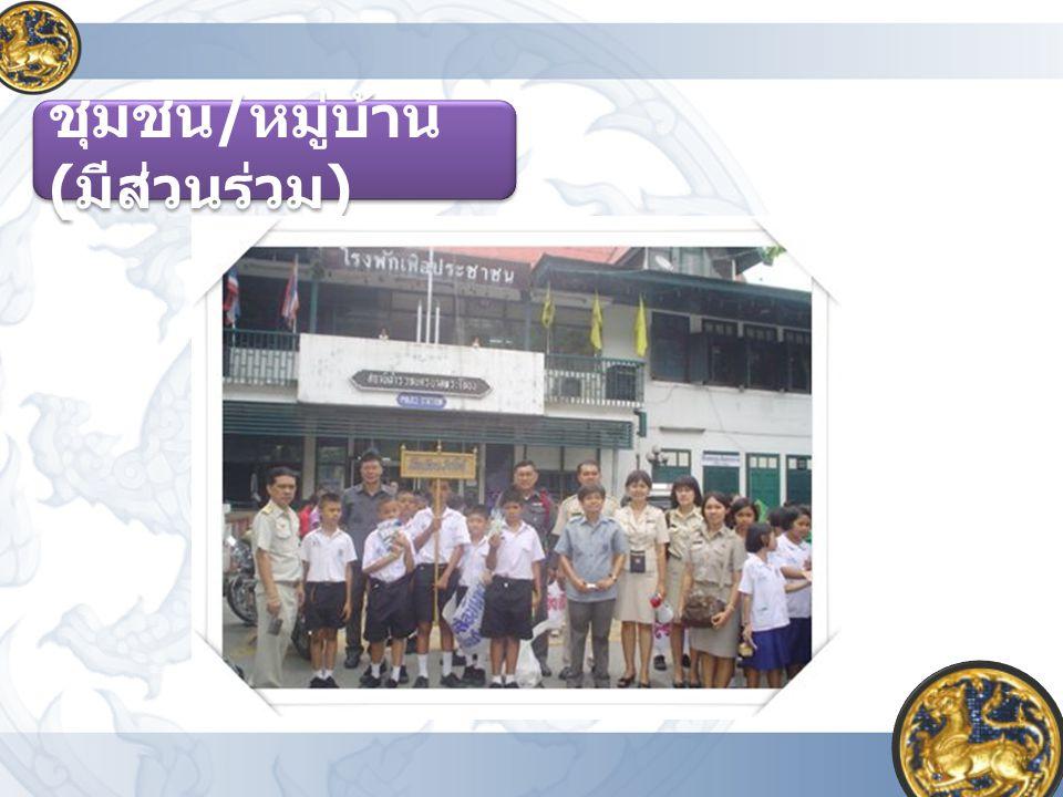 ชุมชน / หมู่บ้าน ( มีส่วนร่วม )