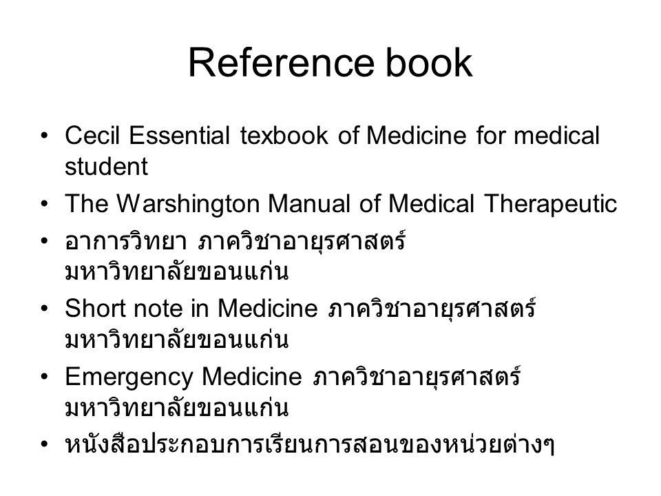 E-learning •http://elearning.md.kku.ac.th/kku/account/l ogin.jsphttp://elearning.md.kku.ac.th/kku/account/l ogin.jsp •http://med.mykku.net/http://med.mykku.net/ •http://medicalstudent.comhttp://medicalstudent.com
