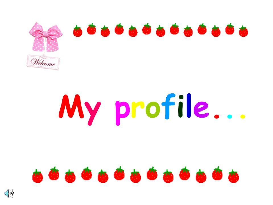 My profile...