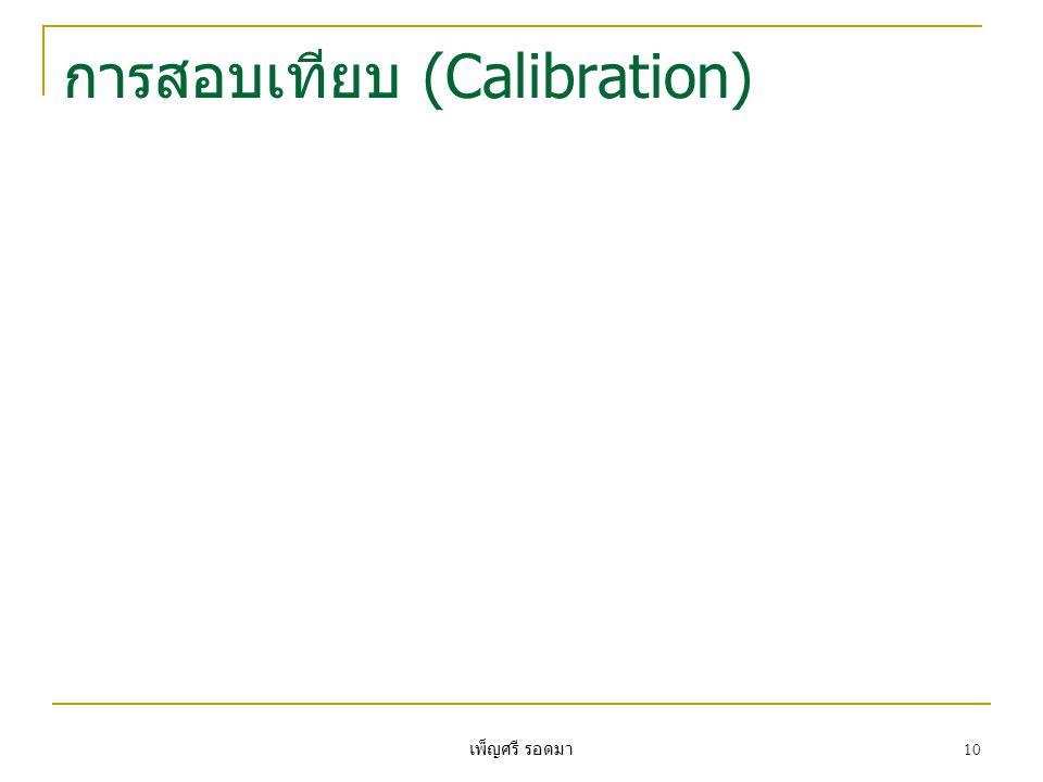 เพ็ญศรี รอดมา 10 การสอบเทียบ (Calibration)