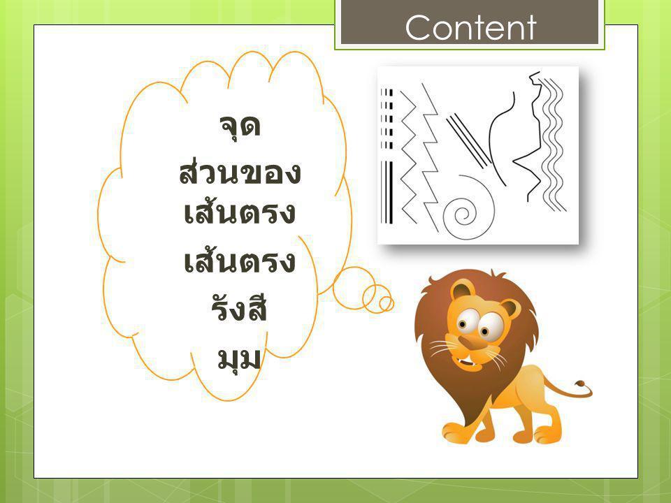 จุด ส่วนของ เส้นตรง เส้นตรง รังสี มุม Content