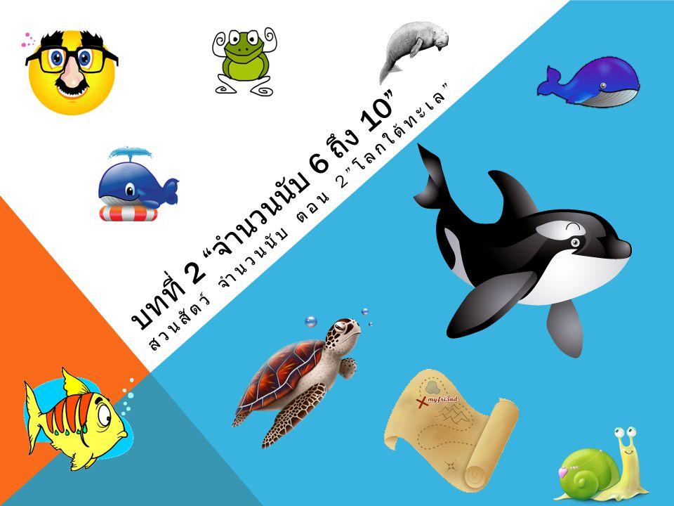 บทที่ 2 จำนวนนับ 6 ถึง 10 สวนสัตว์ จำนวนนับ ตอน 2 โลกใต้ทะเล