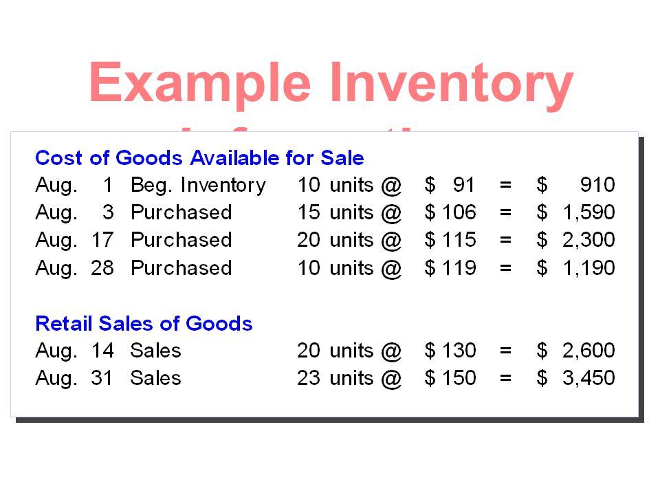 ตัวอย่างการตีราคาสินค้า คงเหลือ ชุดที่ 2