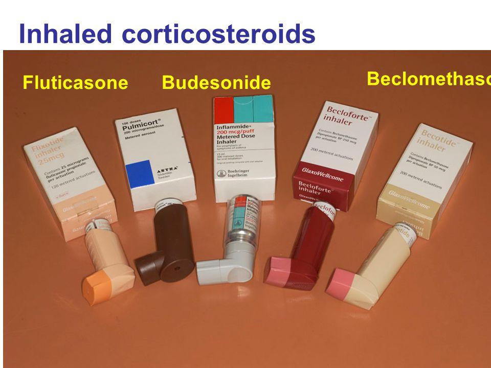 Inhaled corticosteroids Beclomethasone BudesonideFluticasone