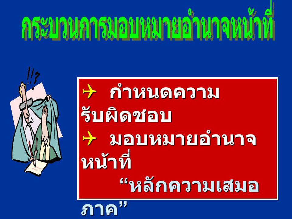 Line Authorit y  รับผิดชอบความสำเร็จ ขององค์การ  อยู่ใน Chain of Command Staff Authorit y  ช่วยเหลือหน่วยงานที่ เป็น Line  อยู่นอก Chain of Comman