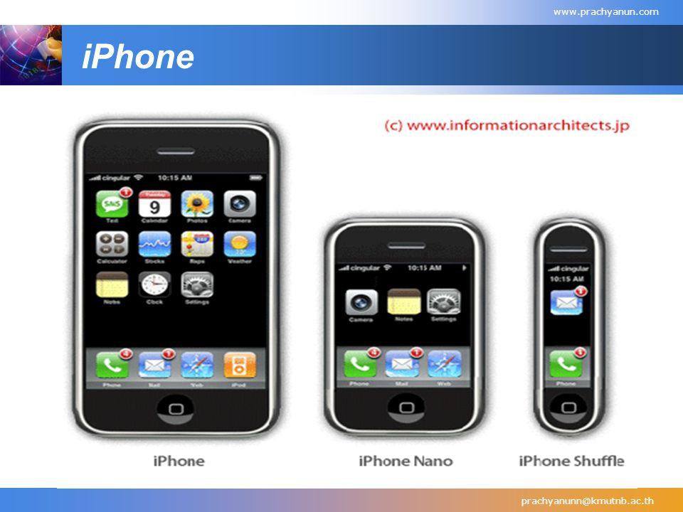 iPhone prachyanunn@kmutnb.ac.th www.prachyanun.com