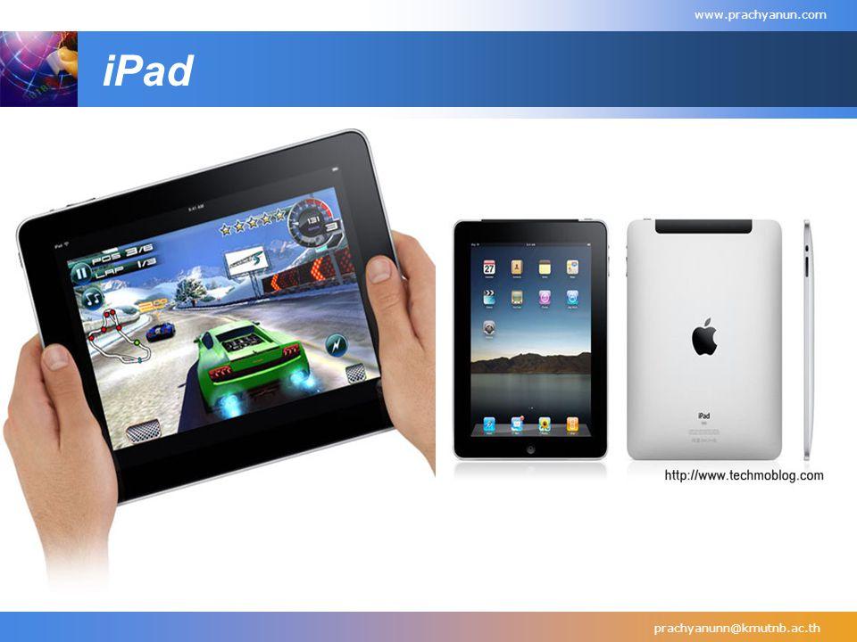 iPad prachyanunn@kmutnb.ac.th www.prachyanun.com