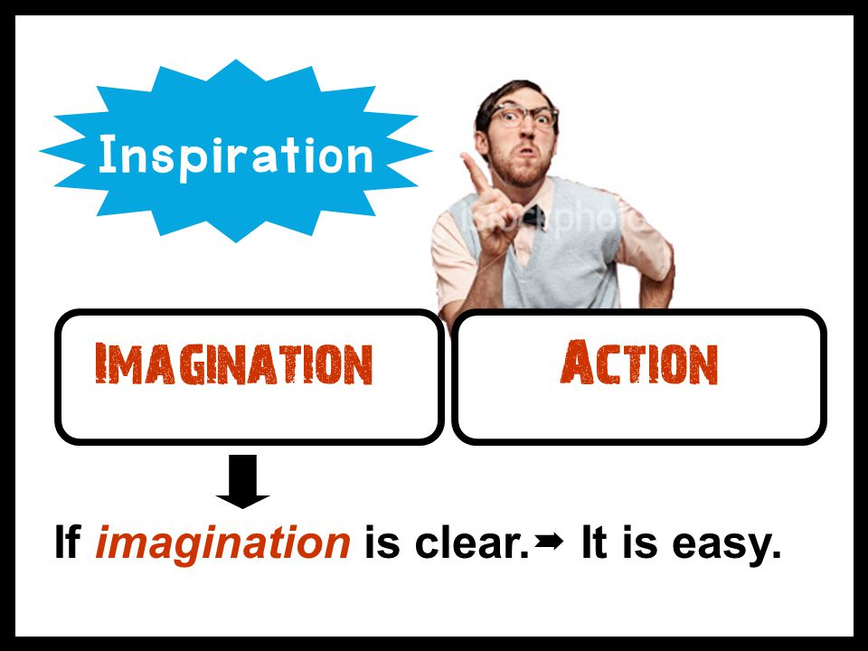 ImaginationAction If imagination is clear.  It is easy. Inspiration