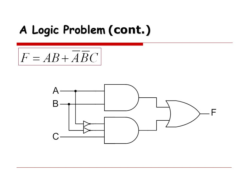 A Logic Problem (cont.)