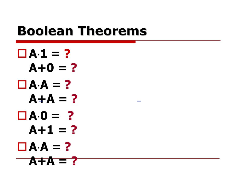 Standard Forms of Boolean Function  Maxterms For a Boolean function of two variable, there are 2 2 = 4 maxterms-one for each row of truth table.