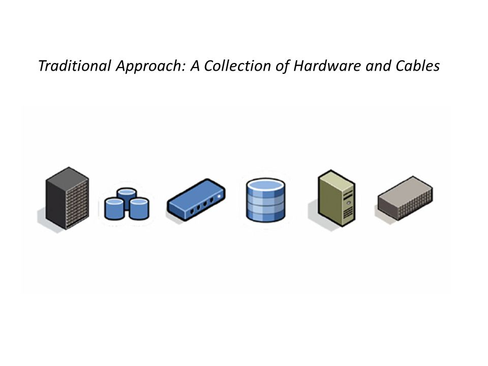 Traditional Approach: A Collection of Hardware and Cables