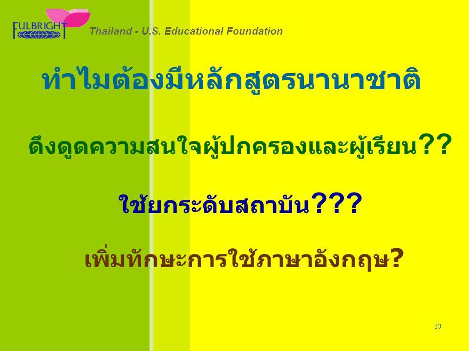 Thailand - U.S.Educational Foundation 26/06/57 33 Thailand - U.S.