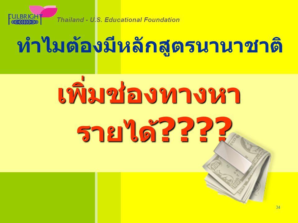Thailand - U.S.Educational Foundation 26/06/57 34 Thailand - U.S.