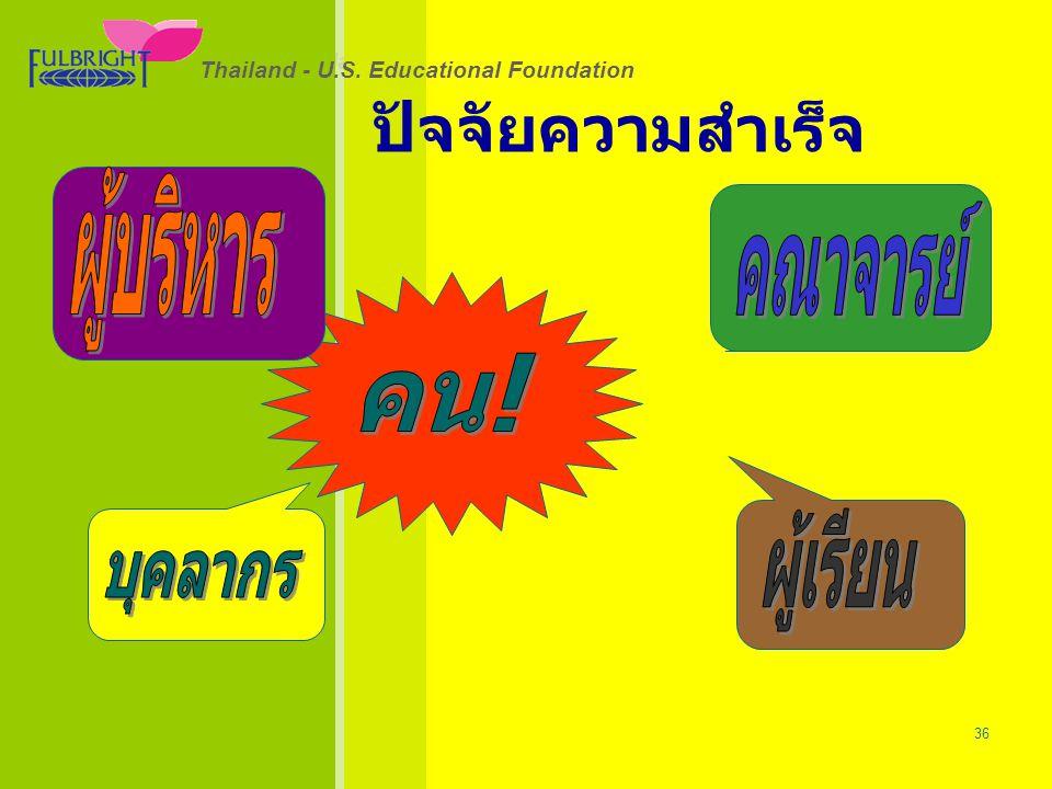 26/06/57 36 Thailand - U.S. Educational Foundation ปัจจัยความสำเร็จ