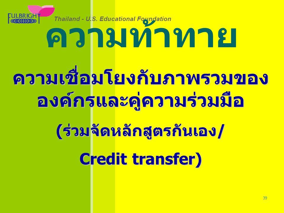 Thailand - U.S.Educational Foundation 26/06/57 39 Thailand - U.S.