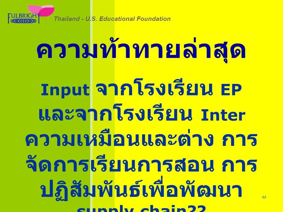 Thailand - U.S.Educational Foundation 26/06/57 44 Thailand - U.S.