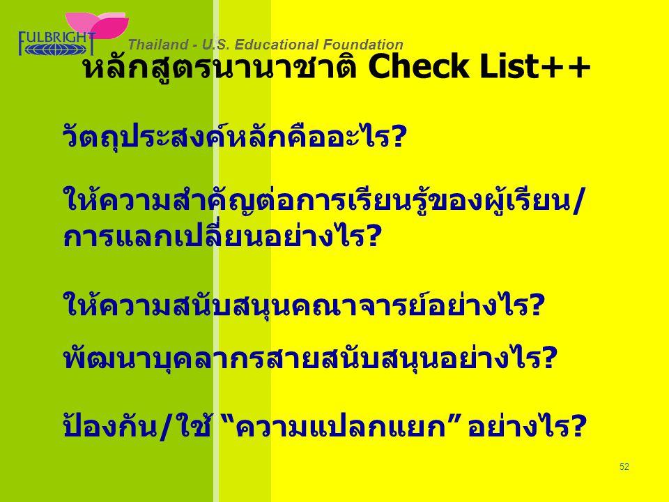 Thailand - U.S.Educational Foundation 26/06/57 52 Thailand - U.S.