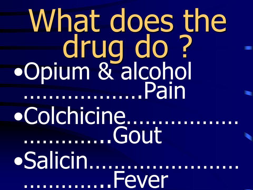 Specific Action ( เช่น Histamine vs.