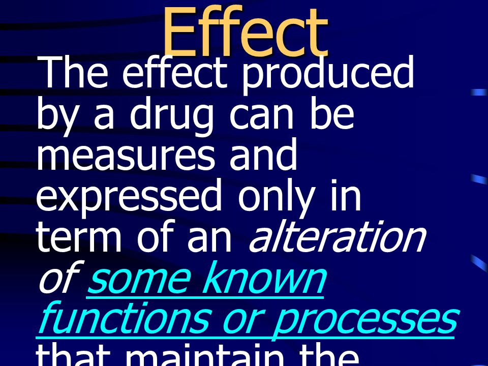 ยาจะออกฤทธิ์ได้มากหรือ น้อยขึ้นอยู่กับ •affinity คือ ความชอบของ ยา หรือฮอร์โมนในการจับ กับ receptors •intrinsic activity คือ ความสามารถ ในการที่จะ ก่อให้เกิดการ เปลี่ยนแปลงใน การ ทำงานของ effectors นั้นๆ ภายหลังจากที่ยา จับกับ receptor
