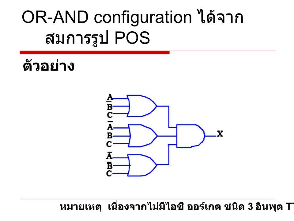 NOR configuration ตัวอย่าง