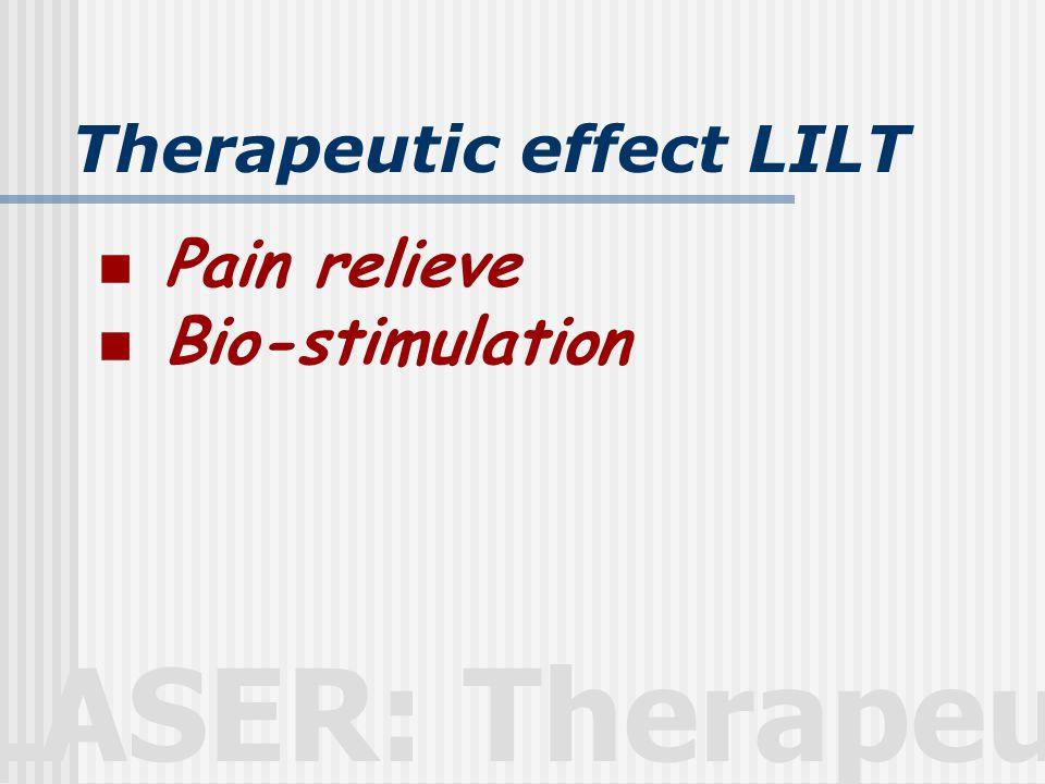 LASER: Therapeutic Contraindication  ผู้ที่เป็นโรคลมชัก  ผู้ที่มีไข้สูง  ผู้ป่วยมะเร็ง  บริเวณท้องหรือหลังของหญิงมีครรภ์ / มีระดู  บริเวณ epiphyses ของเด็ก  ผู้ป่วยภาวะโรคจิต  บริเวณสูญเสียความรู้สึกรับรู้  บริเวณที่มีการติดเชื้อ  บริเวณ sympathetic ganglian, vagus n, cadiac region  ผู้ป่วยภาวะโรคหัวใจต่างๆ