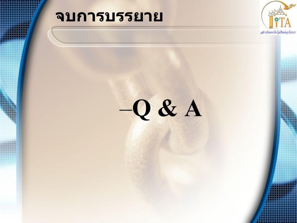 จบการบรรยาย –Q & A