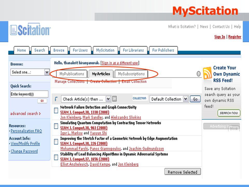 MyScitation