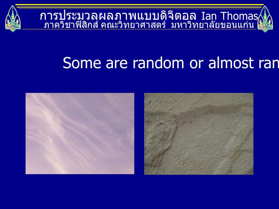การประมวลผลภาพแบบดิจิตอล Ian Thomas ภาควิชาฟิสิกส์ คณะวิทยาศาสตร์ มหาวิทยาลัยขอนแก่น Textures are important in 2 ways: 1.