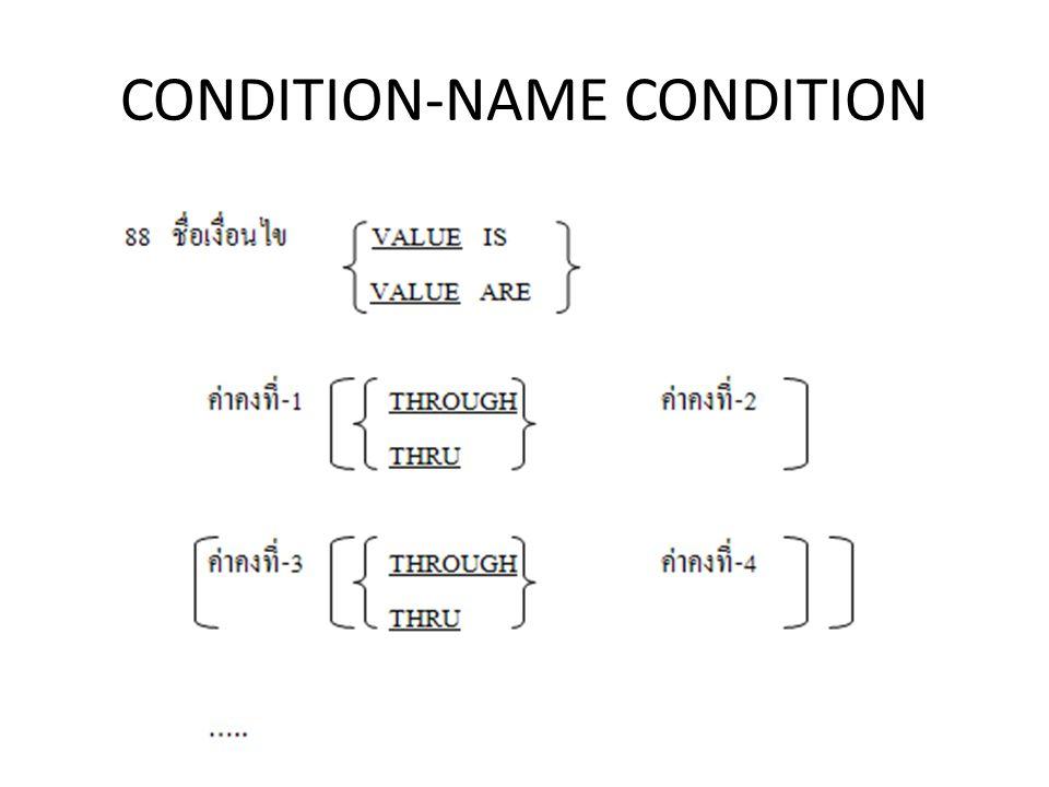 CONDITION-NAME CONDITION
