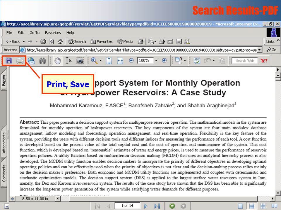 Search Results-PDF Print, Save