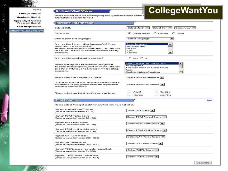 CollegeWantYou