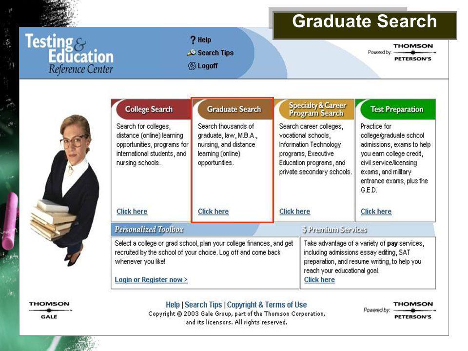 Graduate Search