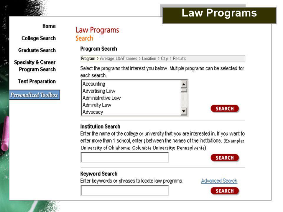 Law Programs
