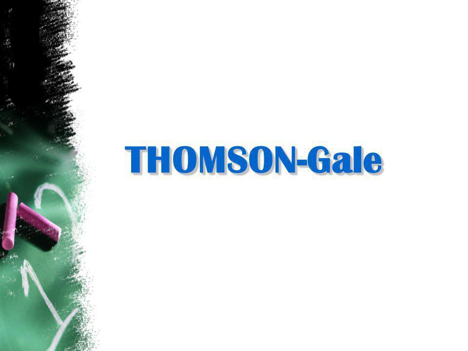 THOMSON-GaleTHOMSON-Gale