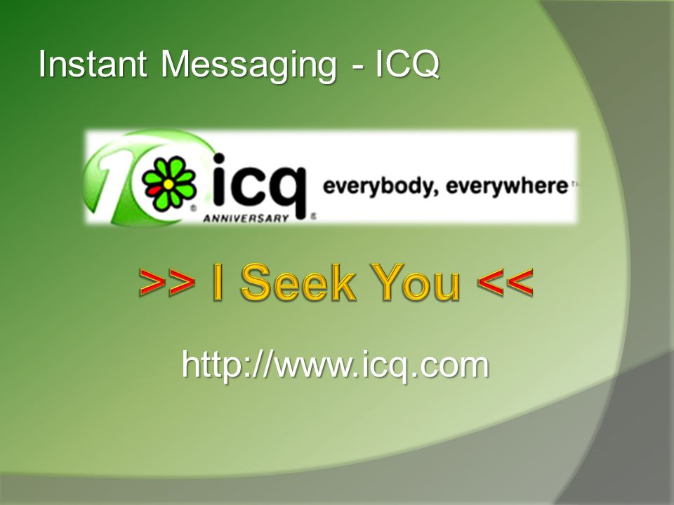 Instant Messaging - ICQ